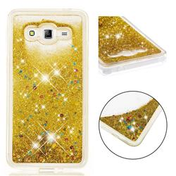 Dynamic Liquid Glitter Quicksand Sequins TPU Phone Case for Samsung Galaxy J2 Prime G532 - Golden