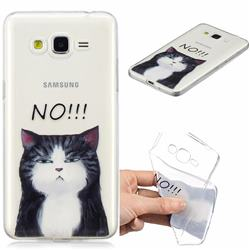 No Cat Clear Varnish Soft Phone Back Cover for Samsung Galaxy J2 Prime G532
