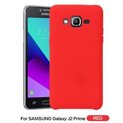 Howmak Slim Liquid Silicone Rubber Shockproof Phone Case Cover for Samsung Galaxy J2 Prime G532 - Red