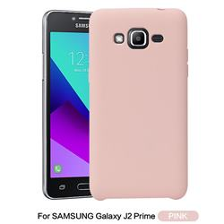 Howmak Slim Liquid Silicone Rubber Shockproof Phone Case Cover for Samsung Galaxy J2 Prime G532 - Pink