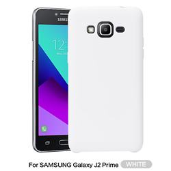 Howmak Slim Liquid Silicone Rubber Shockproof Phone Case Cover for Samsung Galaxy J2 Prime G532 - White