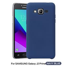 Howmak Slim Liquid Silicone Rubber Shockproof Phone Case Cover for Samsung Galaxy J2 Prime G532 - Midnight Blue
