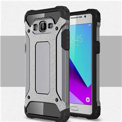King Kong Armor Premium Shockproof Dual Layer Rugged Hard Cover for Samsung Galaxy J2 Prime G532 - Silver Grey