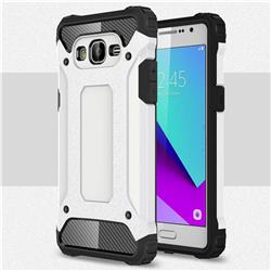 King Kong Armor Premium Shockproof Dual Layer Rugged Hard Cover for Samsung Galaxy J2 Prime G532 - White