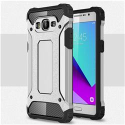 King Kong Armor Premium Shockproof Dual Layer Rugged Hard Cover for Samsung Galaxy J2 Prime G532 - Technology Silver