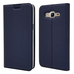 Ultra Slim Card Magnetic Automatic Suction Leather Wallet Case for Samsung Galaxy J2 Prime G532 - Royal Blue
