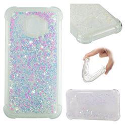 Dynamic Liquid Glitter Sand Quicksand Star TPU Case for Samsung Galaxy J2 Pro (2018) - Pink