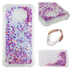 Dynamic Liquid Glitter Sand Quicksand Star TPU Case for Samsung Galaxy J2 Pro (2018) - Rose