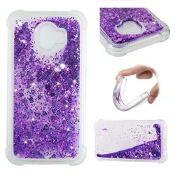 Dynamic Liquid Glitter Sand Quicksand Star TPU Case for Samsung Galaxy J2 Pro (2018) - Purple