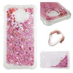 Dynamic Liquid Glitter Sand Quicksand Star TPU Case for Samsung Galaxy J2 Pro (2018) - Diamond Rose