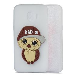 Bad Boy Owl Soft 3D Silicone Case for Samsung Galaxy J2 Pro (2018) - Translucent White