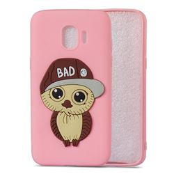 Bad Boy Owl Soft 3D Silicone Case for Samsung Galaxy J2 Pro (2018) - Pink