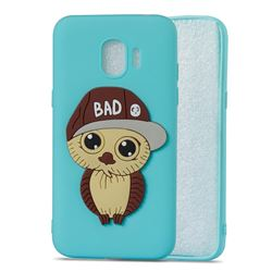 Bad Boy Owl Soft 3D Silicone Case for Samsung Galaxy J2 Pro (2018) - Sky Blue