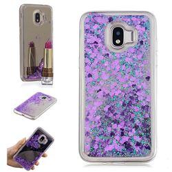 Glitter Sand Mirror Quicksand Dynamic Liquid Star TPU Case for Samsung Galaxy J2 Pro (2018) - Purple