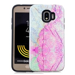 Pink Marble Pattern 2 in 1 PC + TPU Glossy Embossed Back Cover for Samsung Galaxy J2 Pro (2018)