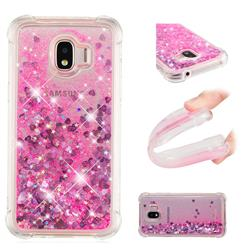 Dynamic Liquid Glitter Sand Quicksand TPU Case for Samsung Galaxy J2 Pro (2018) - Pink Love Heart