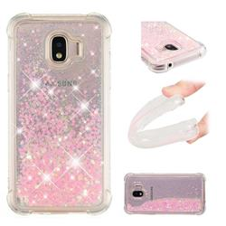 Dynamic Liquid Glitter Sand Quicksand TPU Case for Samsung Galaxy J2 Pro (2018) - Silver Powder Star