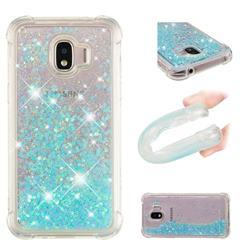 Dynamic Liquid Glitter Sand Quicksand TPU Case for Samsung Galaxy J2 Pro (2018) - Silver Blue Star