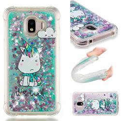 Tiny Unicorn Dynamic Liquid Glitter Sand Quicksand Star TPU Case for Samsung Galaxy J2 Pro (2018)