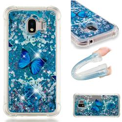 Flower Butterfly Dynamic Liquid Glitter Sand Quicksand Star TPU Case for Samsung Galaxy J2 Pro (2018)