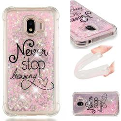 Never Stop Dreaming Dynamic Liquid Glitter Sand Quicksand Star TPU Case for Samsung Galaxy J2 Pro (2018)