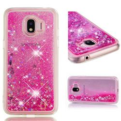 Dynamic Liquid Glitter Quicksand Sequins TPU Phone Case for Samsung Galaxy J2 Pro (2018) - Rose