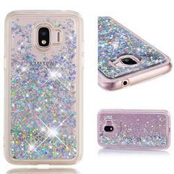 Dynamic Liquid Glitter Quicksand Sequins TPU Phone Case for Samsung Galaxy J2 Pro (2018) - Silver