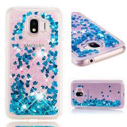 Dynamic Liquid Glitter Quicksand Sequins TPU Phone Case for Samsung Galaxy J2 Pro (2018) - Blue