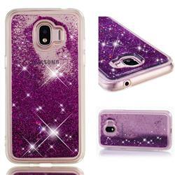 Dynamic Liquid Glitter Quicksand Sequins TPU Phone Case for Samsung Galaxy J2 Pro (2018) - Purple