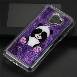 Naughty Panda Glassy Glitter Quicksand Dynamic Liquid Soft Phone Case for Samsung Galaxy J2 Pro (2018)