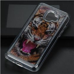 Tiger Glassy Glitter Quicksand Dynamic Liquid Soft Phone Case for Samsung Galaxy J2 Pro (2018)
