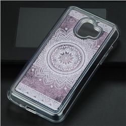Mandala Glassy Glitter Quicksand Dynamic Liquid Soft Phone Case for Samsung Galaxy J2 Pro (2018)