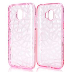 Diamond Pattern Shining Soft TPU Phone Back Cover for Samsung Galaxy J2 Pro (2018) - Pink