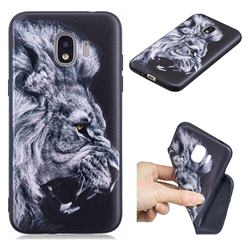 Lion 3D Embossed Relief Black TPU Cell Phone Back Cover for Samsung Galaxy J2 Pro (2018)