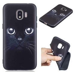 Bearded Feline 3D Embossed Relief Black TPU Cell Phone Back Cover for Samsung Galaxy J2 Pro (2018)