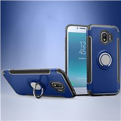 Armor Anti Drop Carbon PC + Silicon Invisible Ring Holder Phone Case for Samsung Galaxy J2 Pro (2018) - Sapphire