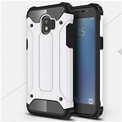 King Kong Armor Premium Shockproof Dual Layer Rugged Hard Cover for Samsung Galaxy J2 Pro (2018) - White