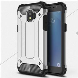 King Kong Armor Premium Shockproof Dual Layer Rugged Hard Cover for Samsung Galaxy J2 Pro (2018) - Technology Silver