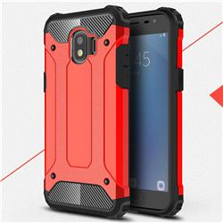 King Kong Armor Premium Shockproof Dual Layer Rugged Hard Cover for Samsung Galaxy J2 Pro (2018) - Big Red
