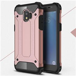 King Kong Armor Premium Shockproof Dual Layer Rugged Hard Cover for Samsung Galaxy J2 Pro (2018) - Rose Gold