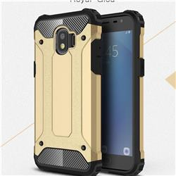 King Kong Armor Premium Shockproof Dual Layer Rugged Hard Cover for Samsung Galaxy J2 Pro (2018) - Champagne Gold