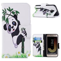 Bamboo Panda Leather Wallet Case for Samsung Galaxy J2 Pro (2018)