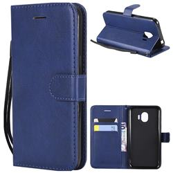Retro Greek Classic Smooth PU Leather Wallet Phone Case for Samsung Galaxy J2 Pro (2018) - Blue