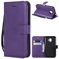 Retro Greek Classic Smooth PU Leather Wallet Phone Case for Samsung Galaxy J2 Pro (2018) - Purple
