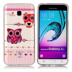 Owls Flower Super Clear Soft TPU Back Cover for Samsung Galaxy J3 2016 J320