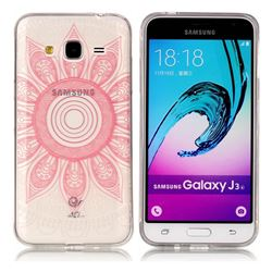 Pink Mandala Super Clear Soft TPU Back Cover for Samsung Galaxy J3 2016 J320
