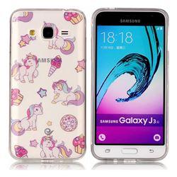 Unicorn Super Clear Soft TPU Back Cover for Samsung Galaxy J3 2016 J320