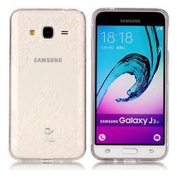 Diagonal Lace Super Clear Soft TPU Back Cover for Samsung Galaxy J3 2016 J320