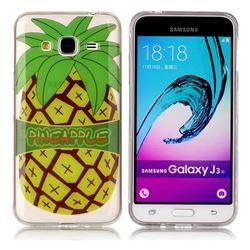 Big Pineapple Super Clear Soft TPU Back Cover for Samsung Galaxy J3 2016 J320