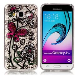 Butterfly Flowers Super Clear Soft TPU Back Cover for Samsung Galaxy J3 2016 J320